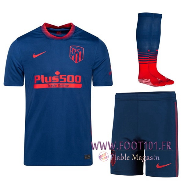 Maillot Foot Atletico Madrid Exterieur (Short+Chaussettes) 2020/2021
