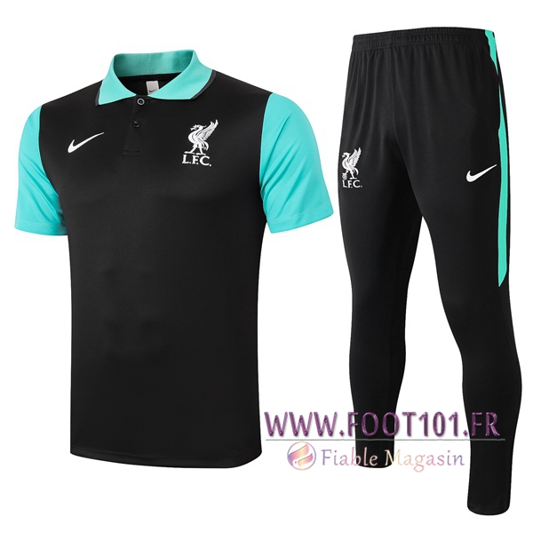 Ensemble Polo FC Liverpool + Pantalon Noir 2020/2021