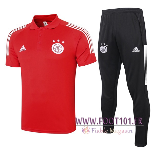 Ensemble Polo AFC Ajax + Pantalon Rouge 2020/2021