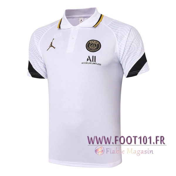 Polo Foot Paris PSG Blanc 2020/2021
