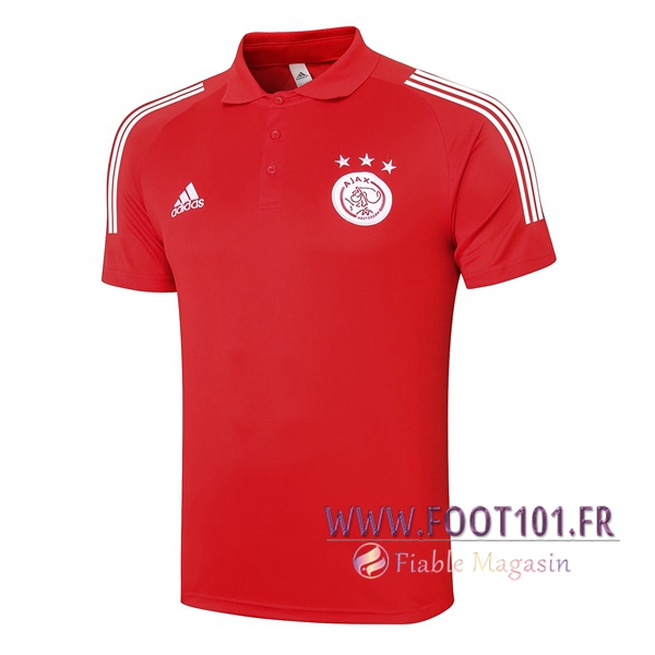 Polo Foot AFC Ajax Rouge 2020/2021