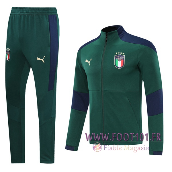Ensemble Survetement de Foot - Veste Italie Vert 2020/2021