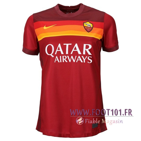 Maillot Foot AS Roma Femme Domicile 2020 2021