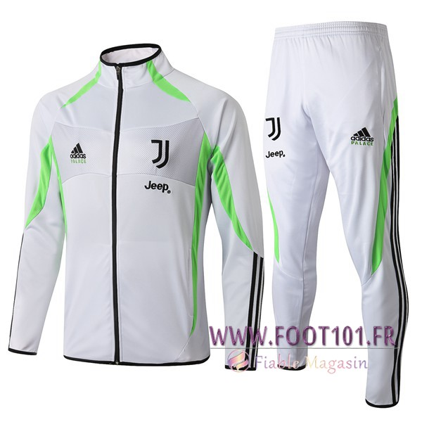 Ensemble Survetement de Foot - Veste Juventus Blanc 2019/2020